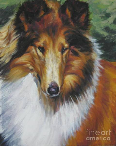 Collie Painting - Collie Portrait by Lee Ann Shepard