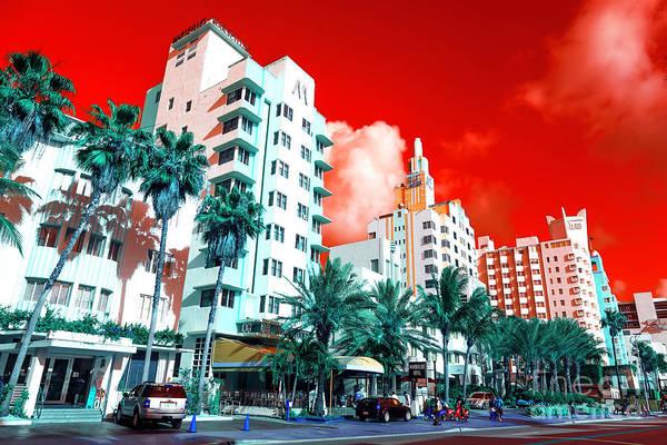 Wall Art - Photograph - Collins Avenue Pop Art South Beach by John Rizzuto