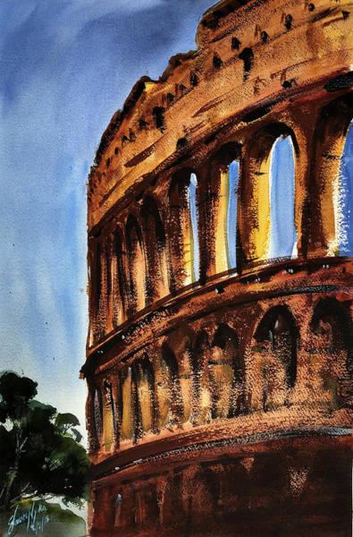 Roma Wall Art - Painting - Colloseum, Rome  by James Nyika