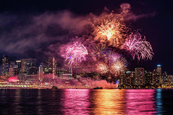 Photograph - Coloful Fireworks  by Pierre Leclerc Photography