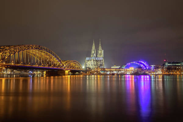 Photograph - Cologne Cathedral Over The Rhine by M C Hood