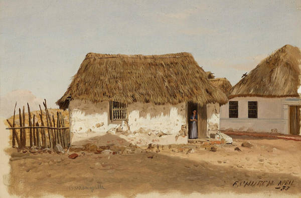 Colombian Wall Art - Painting - Colombia Barranquilla Two Houses  by Frederic Edwin Church
