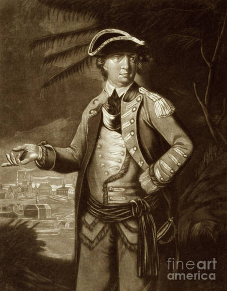 Wall Art - Drawing - Colonel Arnold, Who Commanded The Provincial Troops Sent Against Quebec by English School