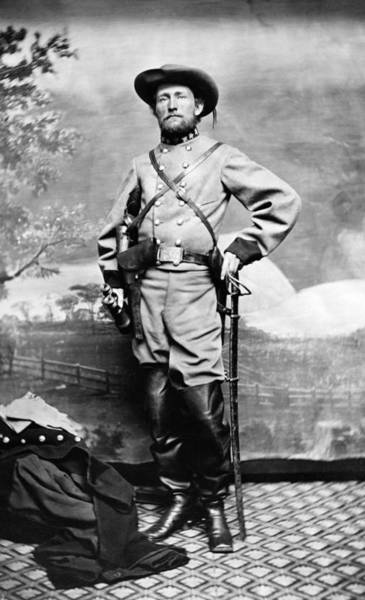 Cavalry Photograph - Colonel John Mosby - Civil War Portrait by War Is Hell Store