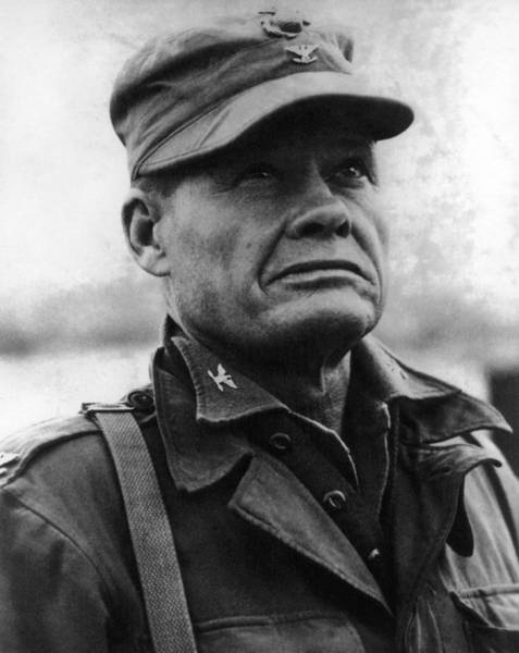 Wall Art - Photograph - Colonel Lewis Chesty Puller - 1950 by War Is Hell Store