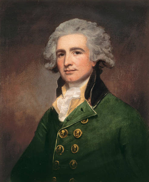 Romney Painting - Colonel Robert Abercrombie by George Romney