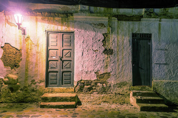Boyaca Photograph - Colonial Building At Night by Jess Kraft