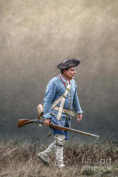 Musket Digital Art - Colonial French Soldier With Rifle by Randy Steele