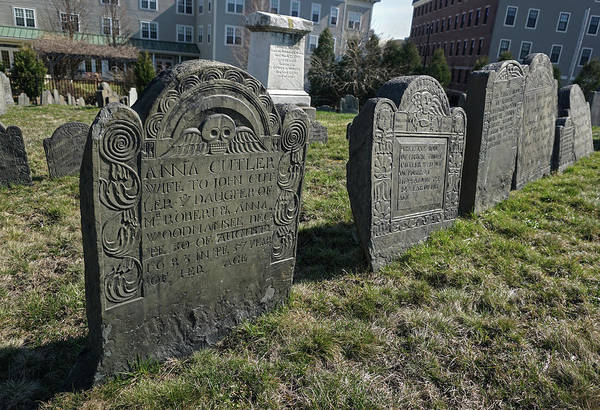 Photograph - Colonial Graves At Phipps Street by Wayne Marshall Chase