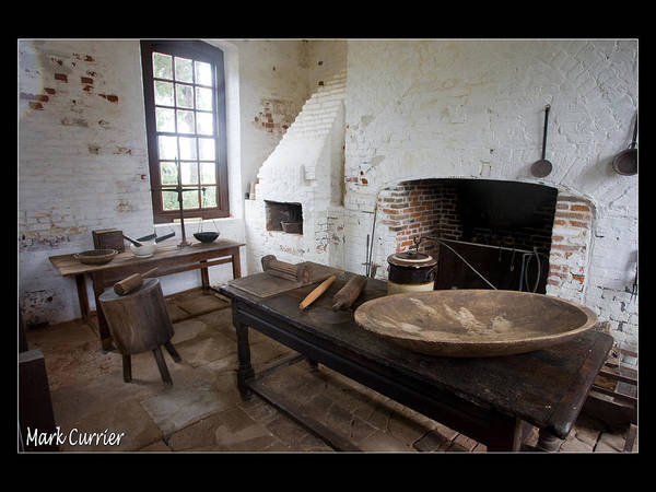 Colonial Williamsburg Photograph - Colonial Kitchen by Mark Currier