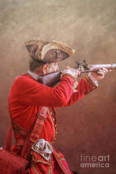 Musket Digital Art - Colonial Soldier Aiming Musket by Randy Steele