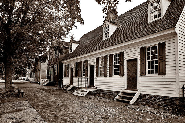 Photograph - Colonial Times - Sepia by Christopher Holmes