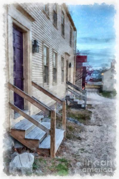 Wall Art - Digital Art - Colonial Townhouses Strawberry Bank Portsmouth by Edward Fielding
