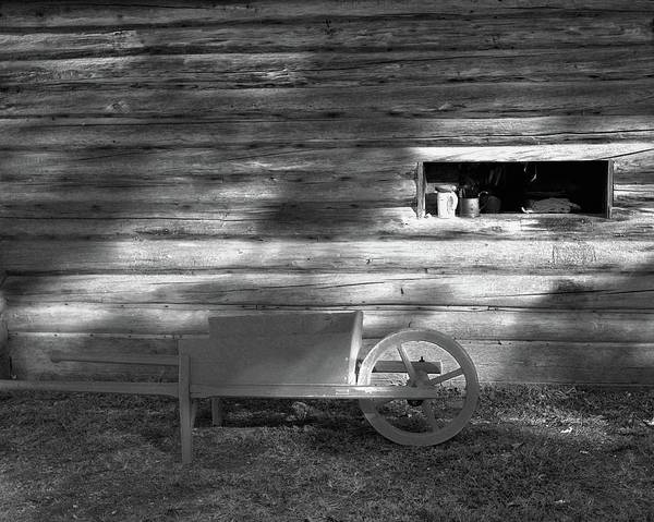 Photograph - Colonial Wheelbarrow by John Feiser