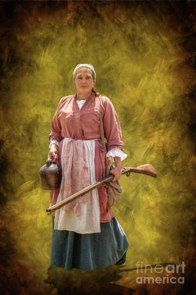 Jug Digital Art - Colonial Woman With Rifle by Randy Steele