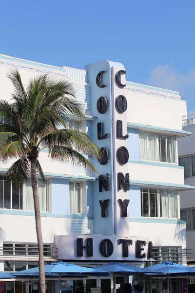 Wall Art - Photograph - Colony Hotel - South Beach by Art Block Collections