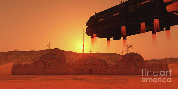 Wall Art - Digital Art - Colony On Mars by Corey Ford