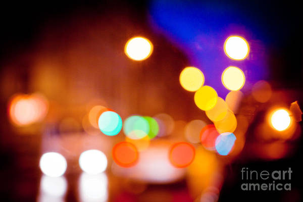 Photograph - Color And Bright Night Light  by Raimond Klavins