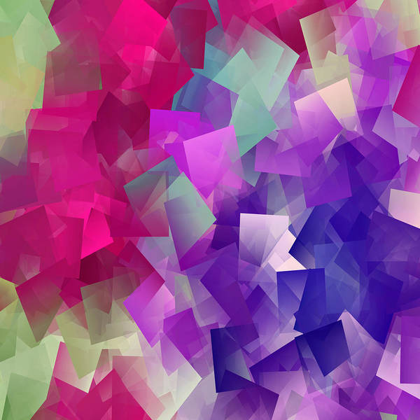 Digital Art - Color Block - Purples by Marianna Mills