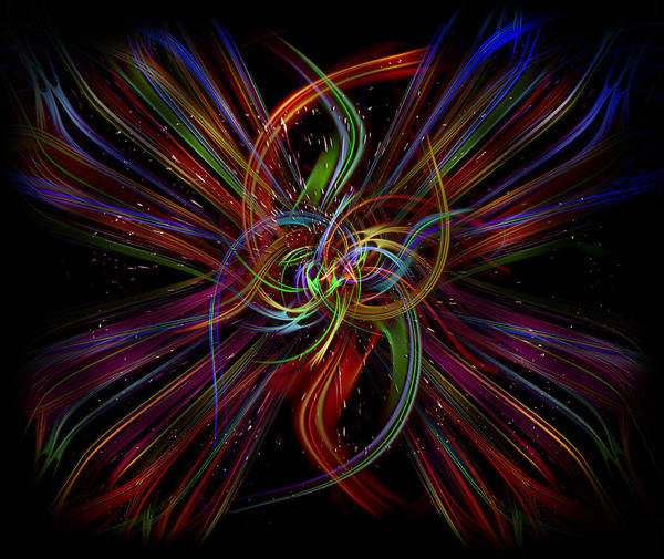 Showpiece Digital Art - Color Bonding by Andy Young