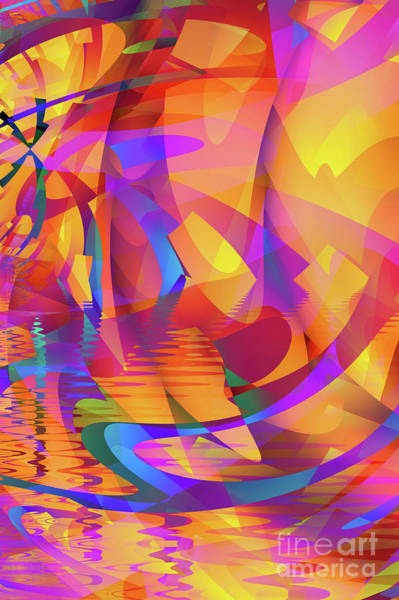 Reflection Digital Art - Color Chaos by John Edwards
