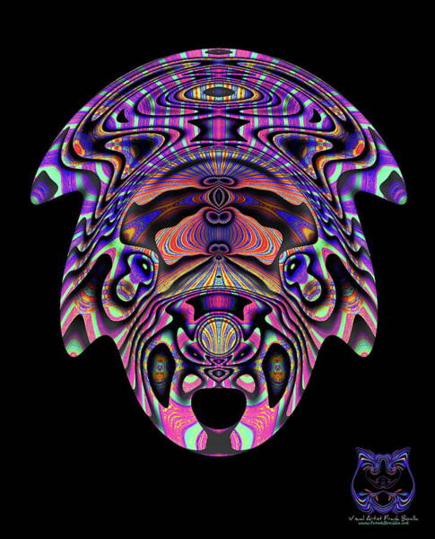 Digital Art - Color Cow by Visual Artist Frank Bonilla