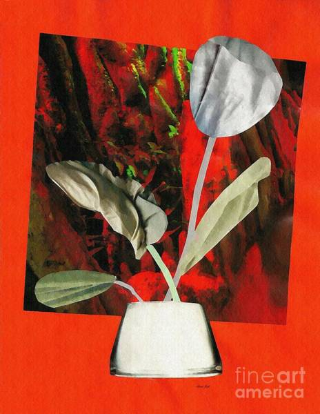 Tulips Mixed Media - Color Drained Bouquet by Sarah Loft