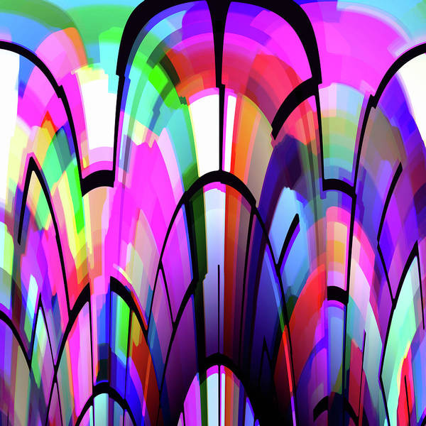 Digital Art - Color Gates by Mihaela Stancu