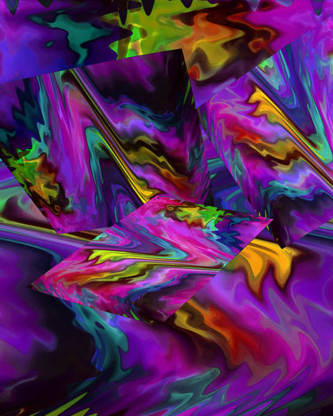Digital Art - Color Journey In Magenta by Lynda Lehmann