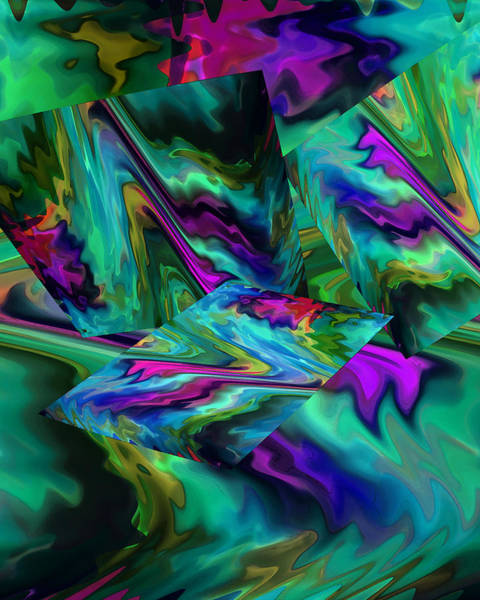 Digital Art - Color Journey In Turquoise by Lynda Lehmann