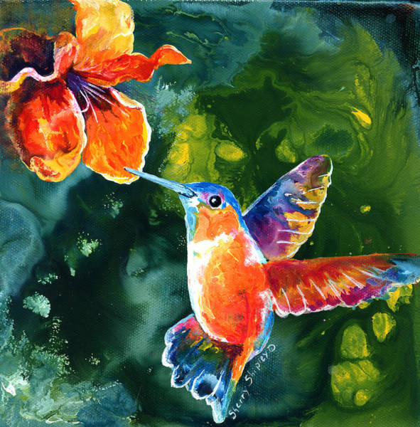 Painting - Color Me Humming by Sherry Shipley