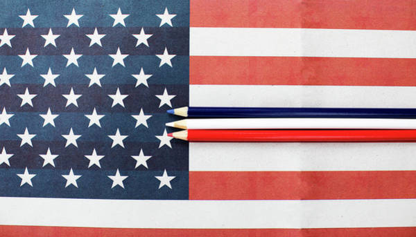 Wall Art - Photograph - Color Me Red White And Blue by Rebecca Cozart