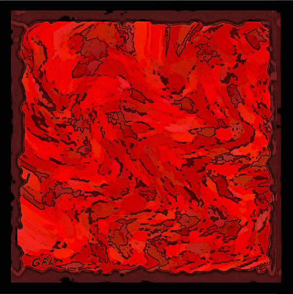 Painting - Color Of Red Vi I Contemporary Digital Art by G Linsenmayer