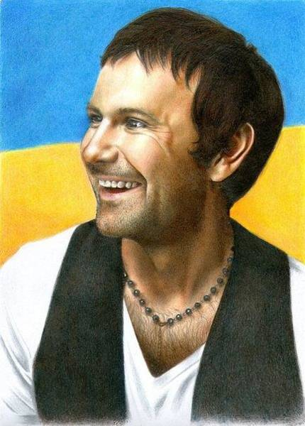 Ukraine Drawing - Color Pencil Portrait by Sasha Berezina