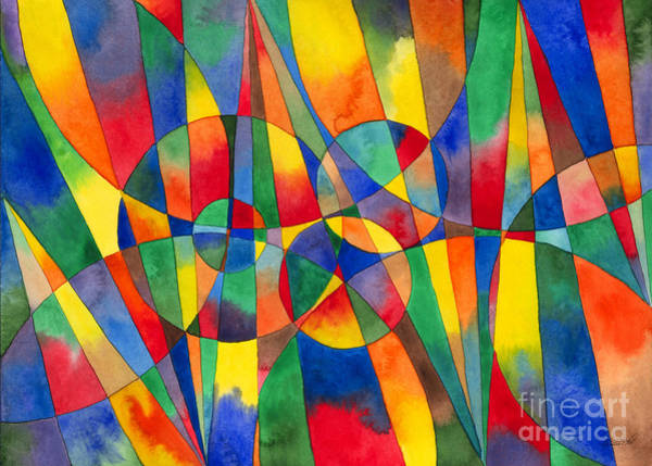Painting - Color Shards Watercolor by Kristen Fox