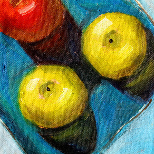Wall Art - Painting - Color Show Apple Art by Nancy Merkle