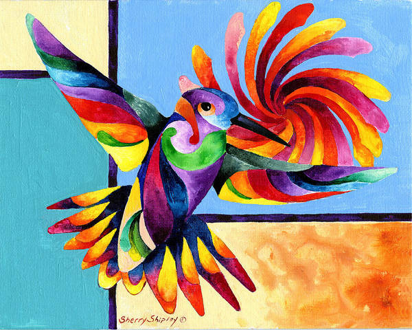 Painting - Color Spinner by Sherry Shipley