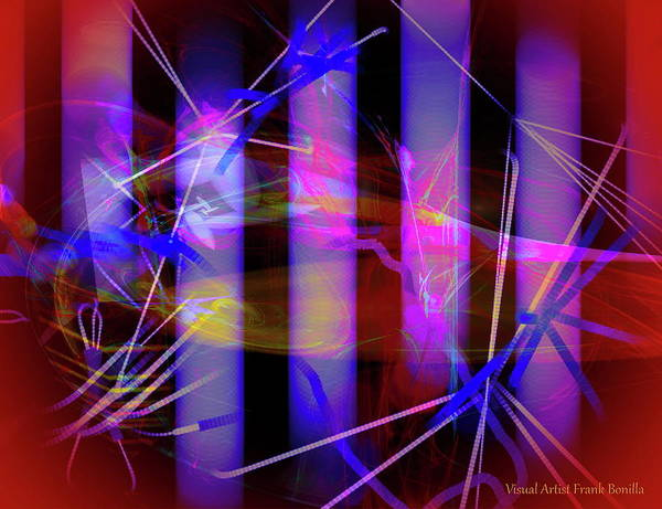 Digital Art - Color Tubes by Visual Artist Frank Bonilla