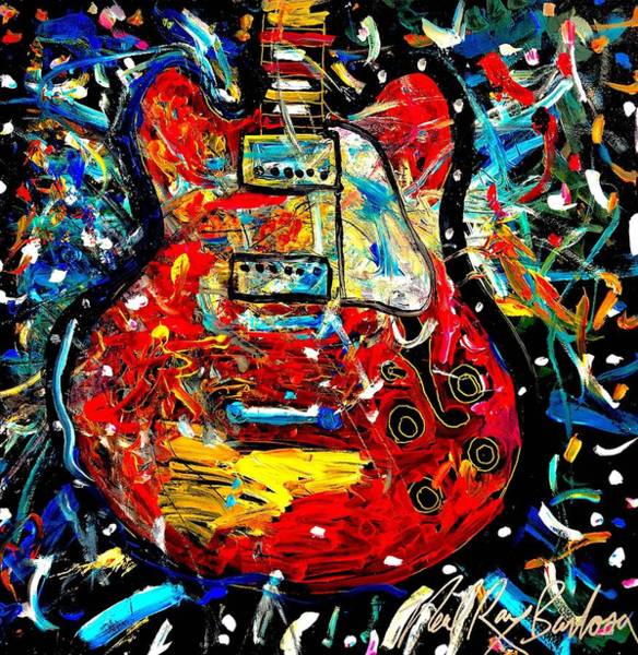 Painting - Color Wheel Guitar by Neal Barbosa