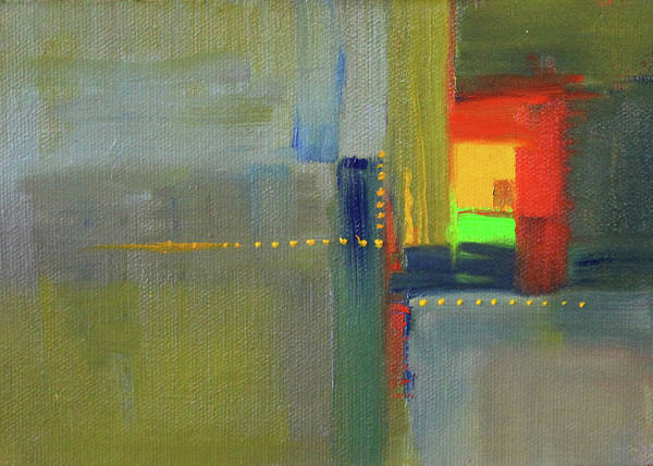 Color Block Painting - Color Window Abstract by Nancy Merkle