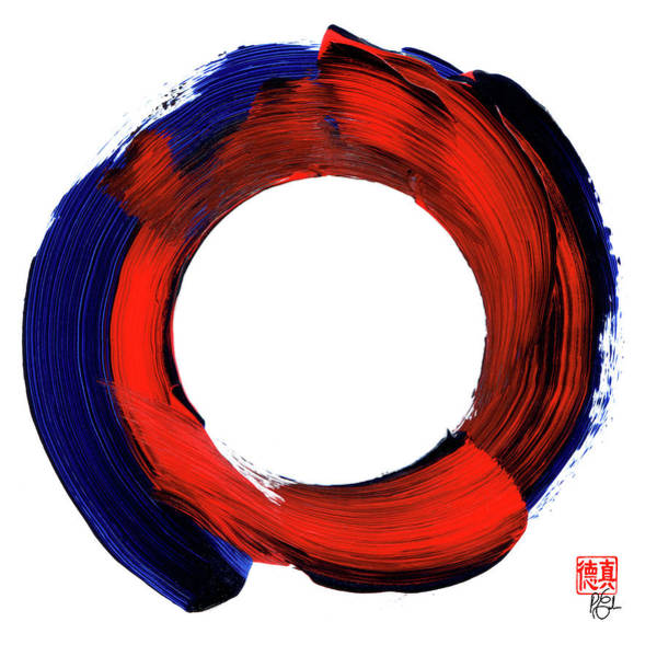 Color Zen Circle Art Print