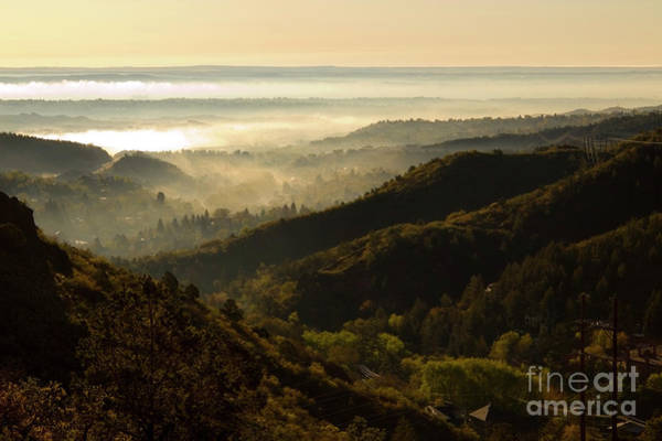 Photograph - Colorado And Manitou Springs Valley In Fog by Steve Krull