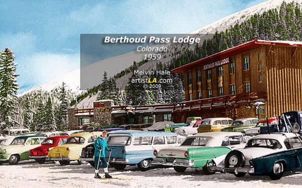 Wall Art - Painting - Colorado Art Entitled Berthoud Pass Lodge Circa 1959 by Melvin Hale