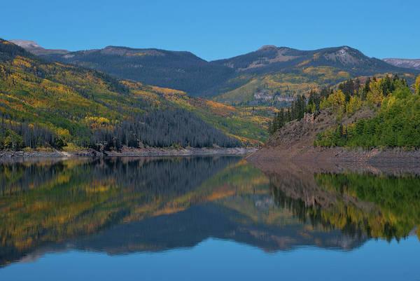 Photograph - Colorado Autumn Mountain Reflection by Cascade Colors