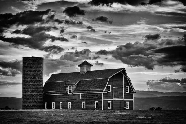 Photograph - Colorado Barn Monochrome by Darren White