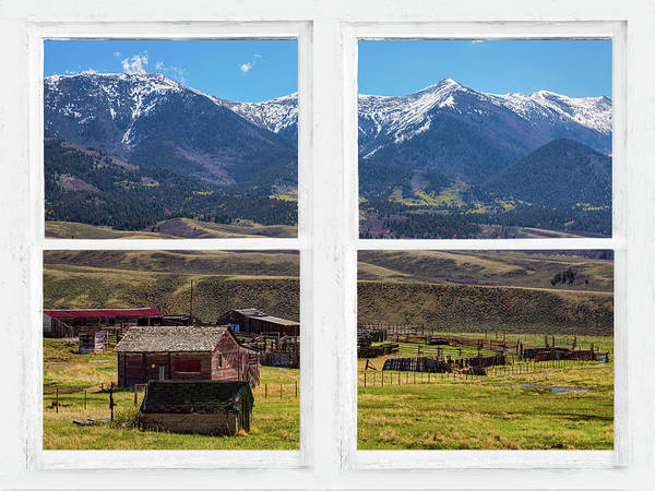 Photograph - Colorado Cattle Ranch Whitewash Picture Window View Art by James BO Insogna