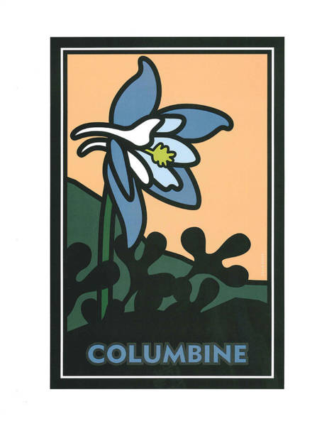 Painting - Colorado Columbine by Carrie MaKenna