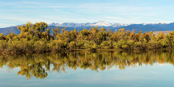 Photograph - Colorado Continental Divide Autumn Reflections Panorama by James BO Insogna