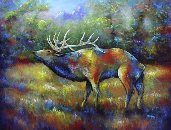 Wall Art - Pastel - Colorado Elk by Patricia Lintner