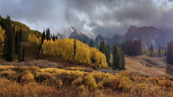 Digital Art - Colorado Fall Colors 2 by OLena Art - Lena Owens